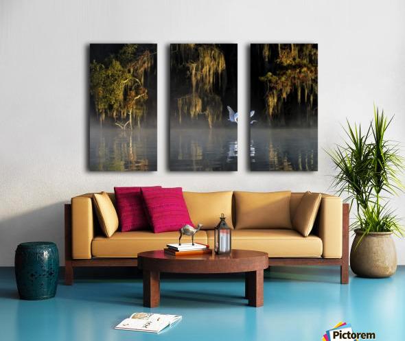 Egret Split Canvas print