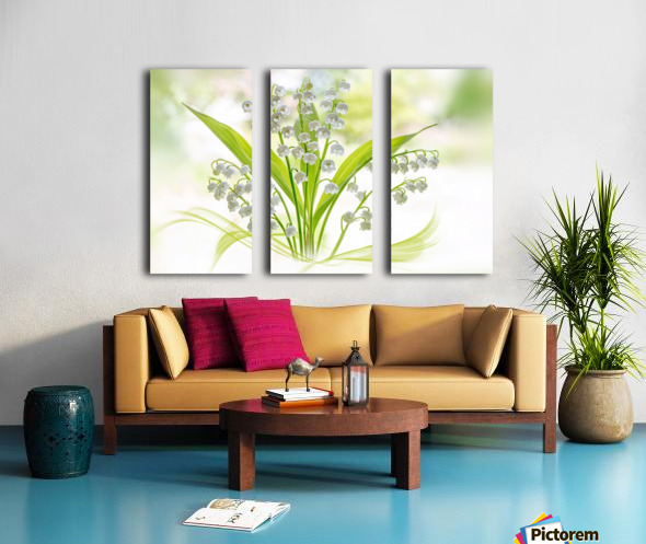 Lily of the valley Split Canvas print