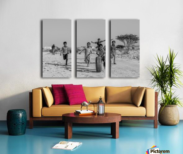 Kids playing Split Canvas print