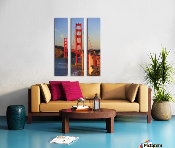 Golden Gate Bridge; San Francisco, California, United States of America Split Canvas print