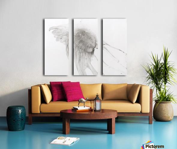 Jellyfish against a white background Split Canvas print