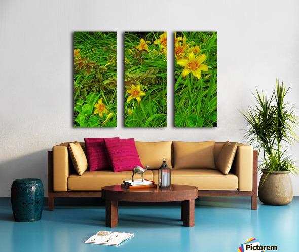 Yellow Flower-1 Split Canvas print