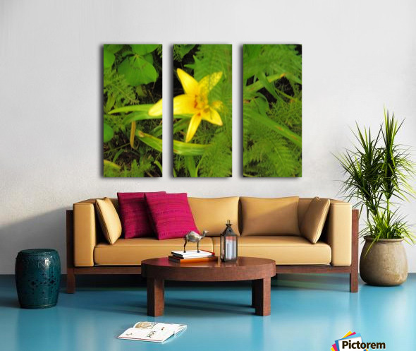 Yellow Flower Split Canvas print