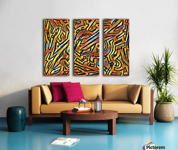 zigurat Split Canvas print