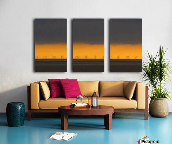 Windfarm layers Split Canvas print