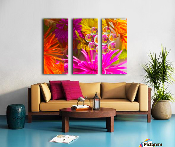 FLOWERS REFRACTION 12 Split Canvas print