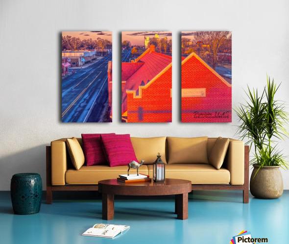 Lonoke, AR   Red Oak  Split Canvas print