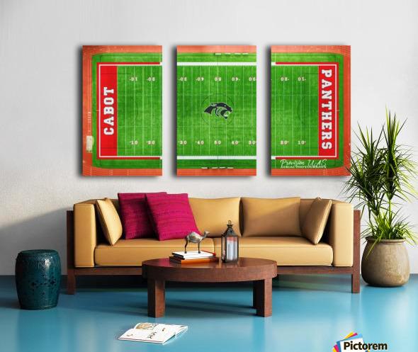 Cabot, AR   Panther Football Field Split Canvas print
