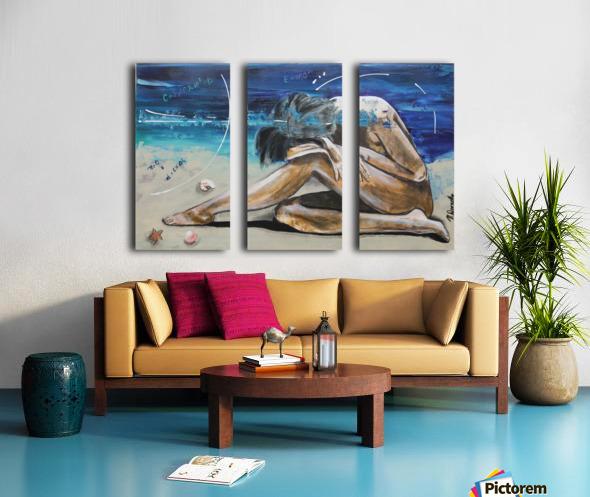 Mise à Nue Split Canvas print