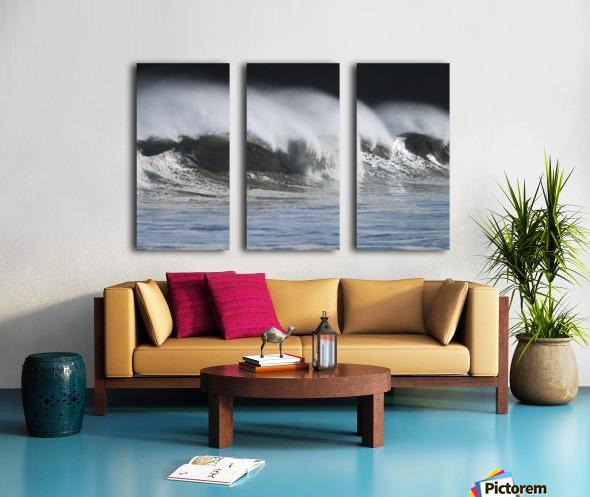 Waves Crashing On Mill Bay Beach Kodiak Island Southwest Alaska Autumn Split Canvas print