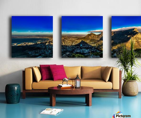 Cape Town's Table Mountain Split Canvas print