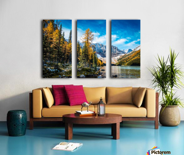 Taylor Lake, Alberta Split Canvas print