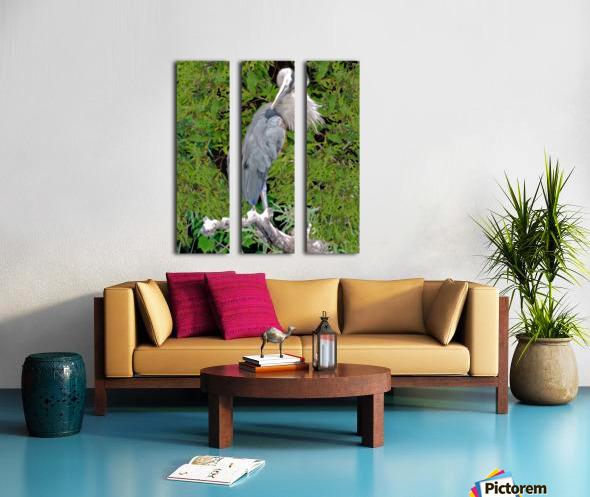 GreatBlueHeron Split Canvas print