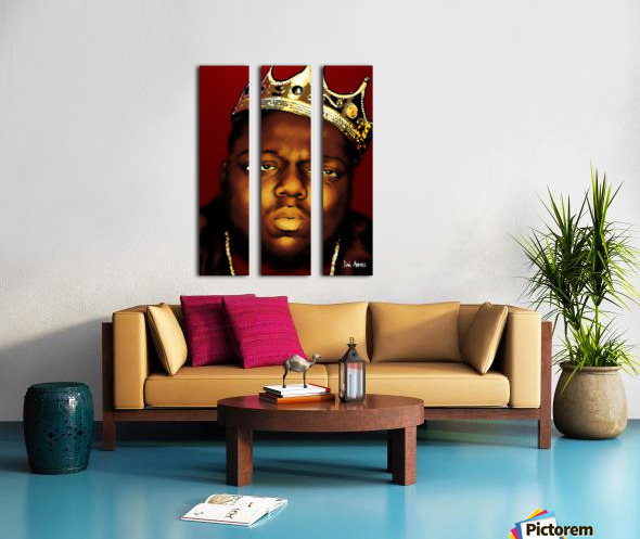 Biggie Smalls aka Notorious B.I.G Split Canvas print