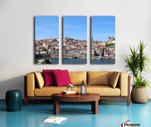 Oporto City at Douro River Split Canvas print