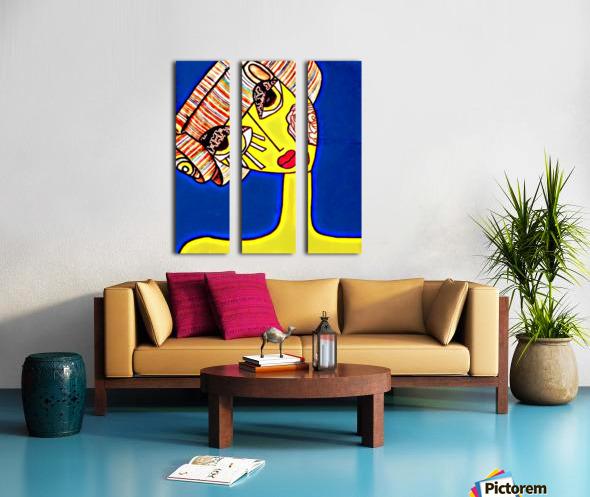 pixel Split Canvas print