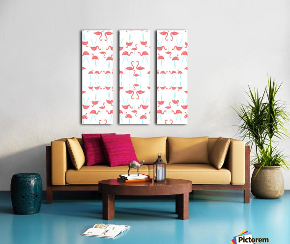flamingos Split Canvas print