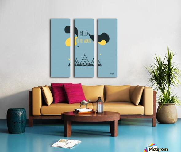 MAISON D INDIEN Split Canvas print