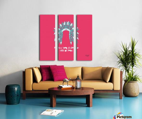 COIFFE D INDIEN Split Canvas print
