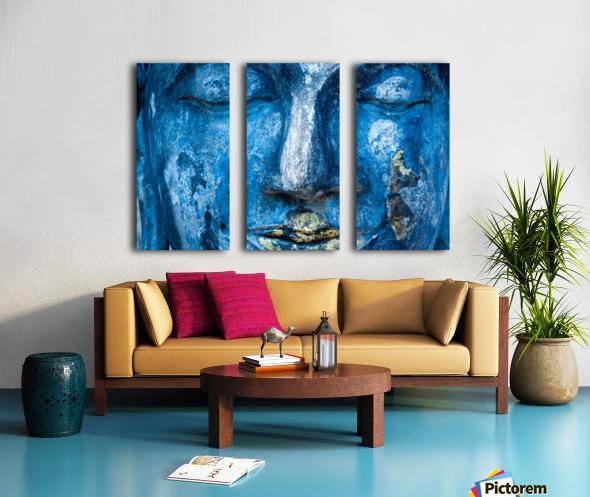 Buddha Face Split Canvas print