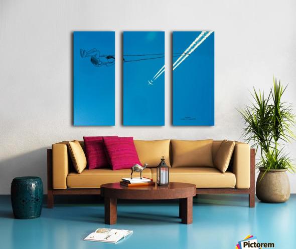 Swing Split Canvas print