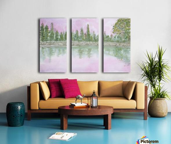 Pine reflections. Split Canvas print
