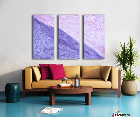 Magenta and Violet Rain. Split Canvas print