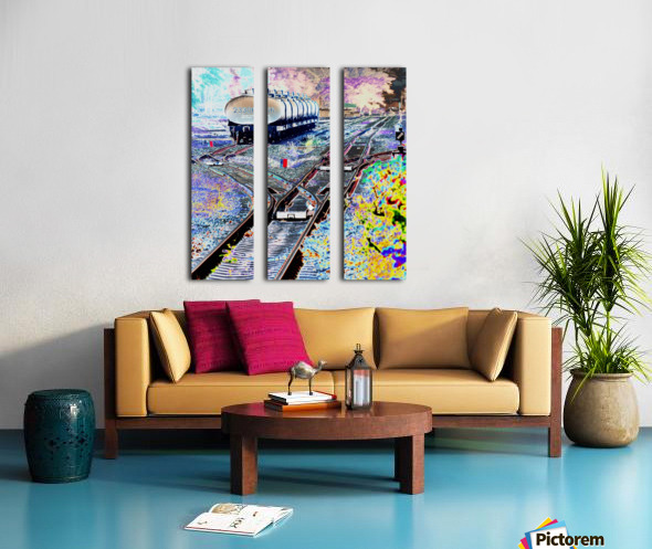 Tanker Wagons. Split Canvas print