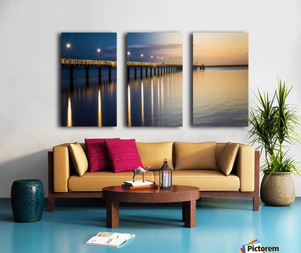 Sea Day2Night Split Canvas print