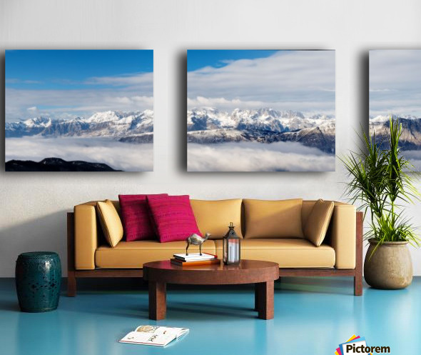 PanoramaSudTirol Split Canvas print
