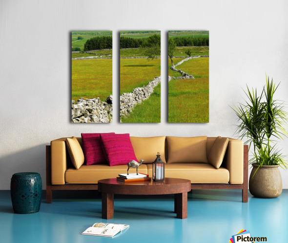 Kink in the wall Split Canvas print