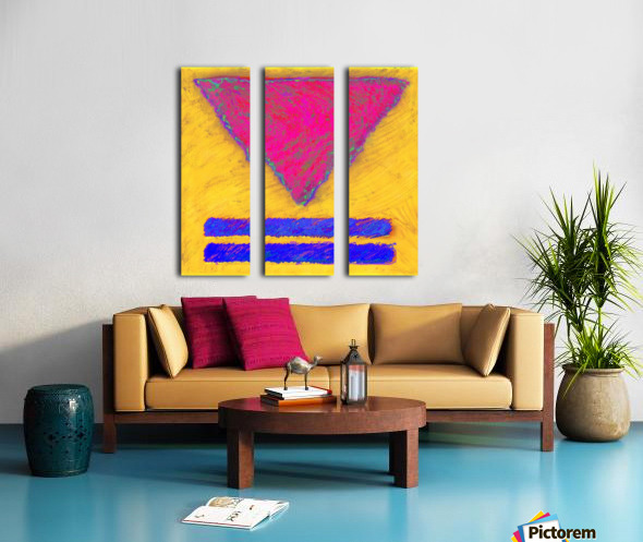 INVERTED PINK TRIANGLE Split Canvas print