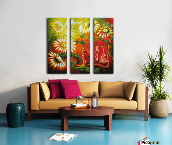 Inspired by music Split Canvas print