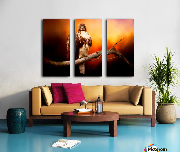 Red Threat Split Canvas print
