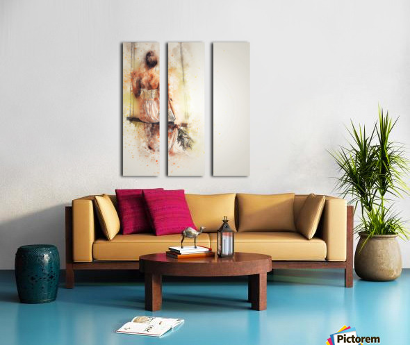girl Split Canvas print