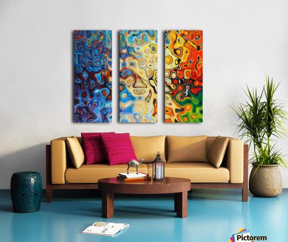 background Split Canvas print