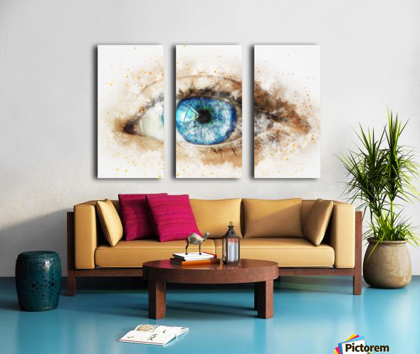 eye Split Canvas print