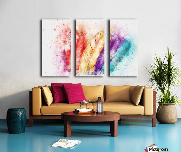 feathers Split Canvas print