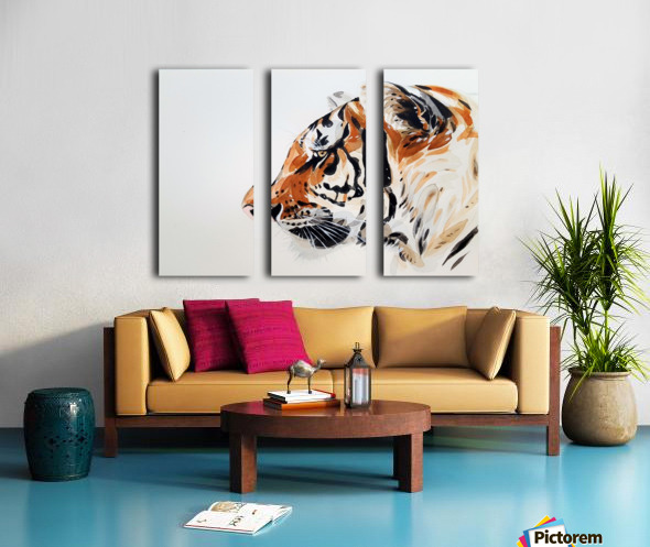 tiger Split Canvas print