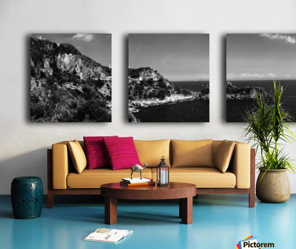 Super panoramic view Amalfi Coast - Italy Split Canvas print