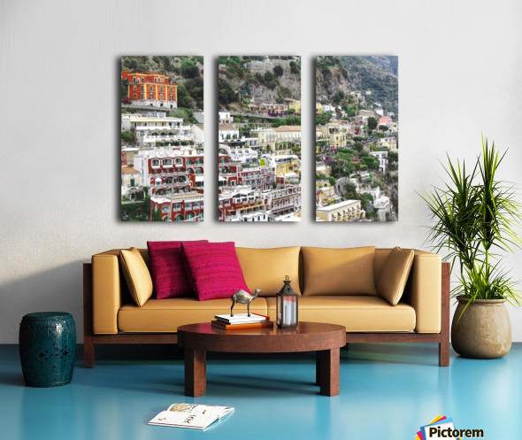 Houses at Amalfi Town - Italy Split Canvas print