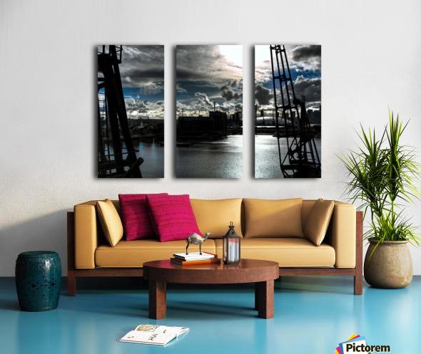London Dramatic Sky - UK Split Canvas print