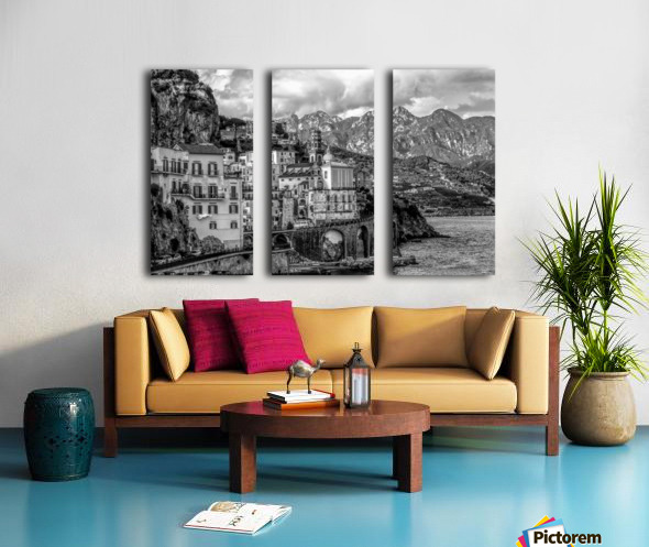 Black and White Landscape - Amalfi Coast - Italy Split Canvas print