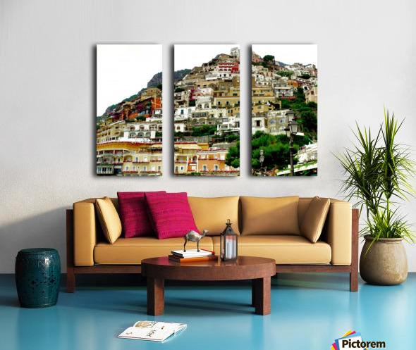 Positano Village in Amalfi Coast - Italy Split Canvas print