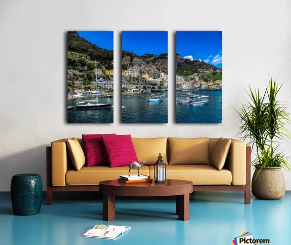 Amalfi Coast Panoramic View Split Canvas print