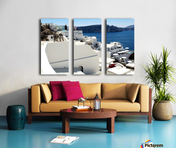 Santorini Landscape - Greece Split Canvas print
