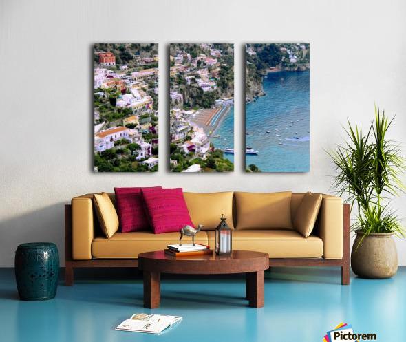 Aerial view of Positano Beach - Italy Split Canvas print