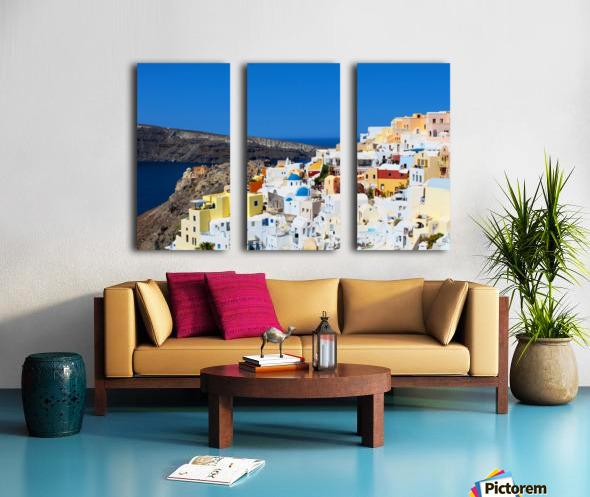 Santorini Landscape - Greece Split Canvas print
