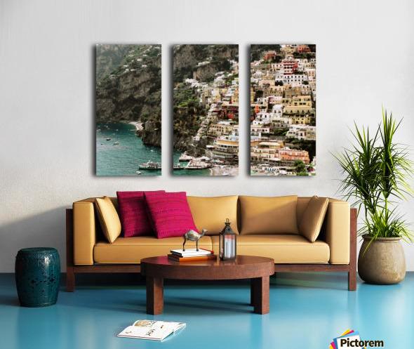 Positano Beach Landscape - Italy Split Canvas print