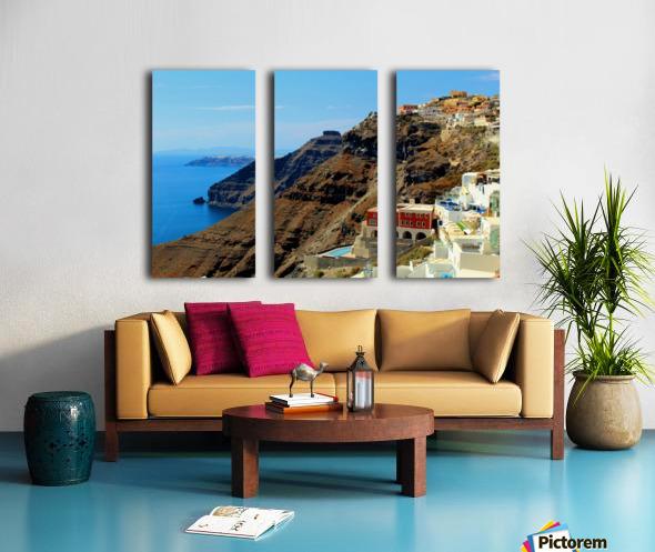 Santorini Mountains Landscape - Greece Split Canvas print